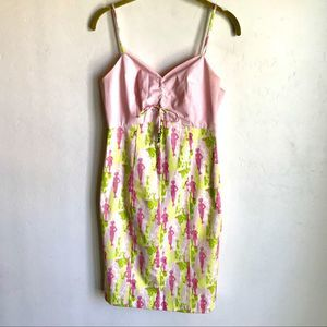 Dresses & Skirts - Pink and Green Cotton Summer Dress NWTS by S.H.E.